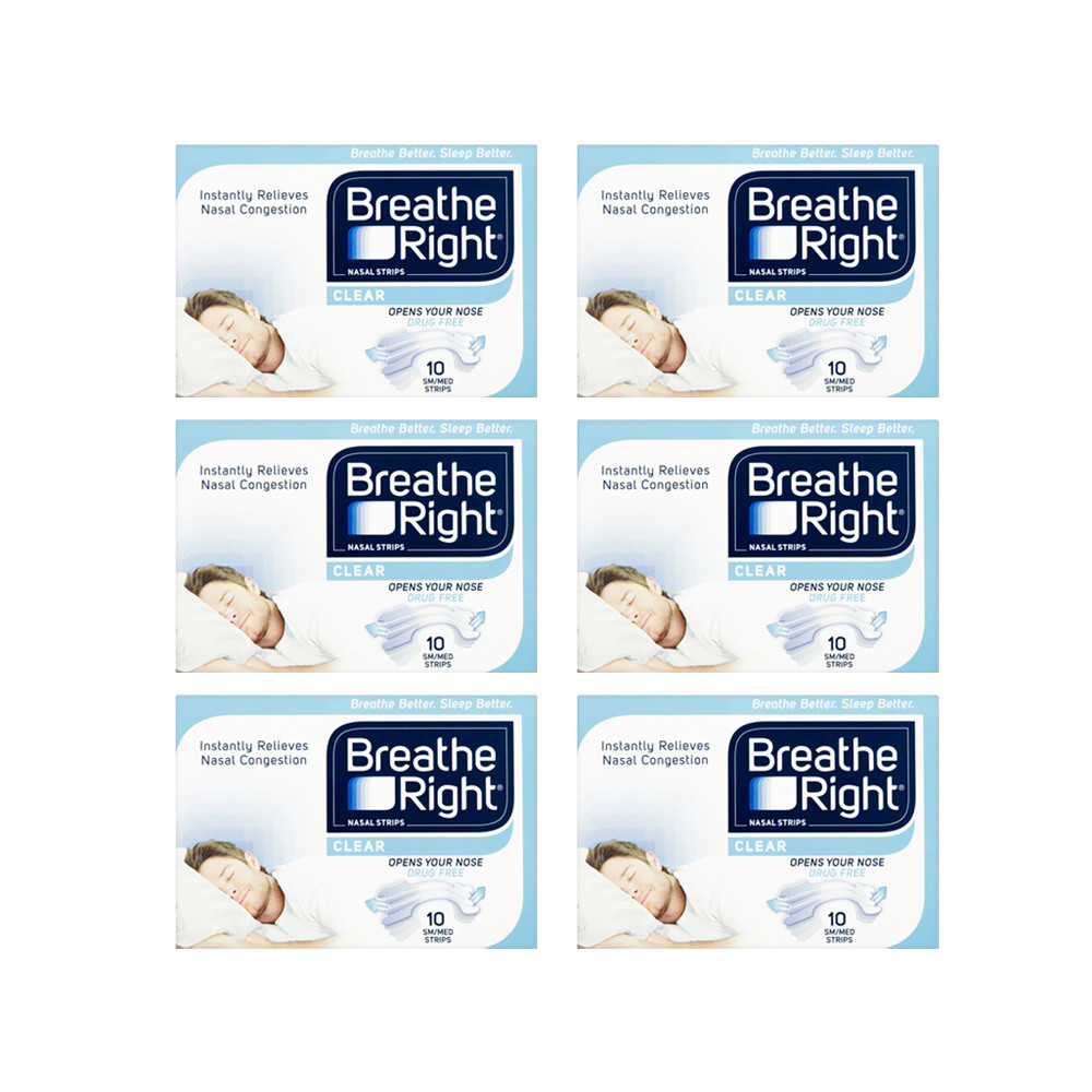 Breathe Right Nasal Strips Clear S/M - 60